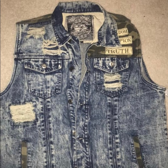 Other - Jean with army fatigue vest